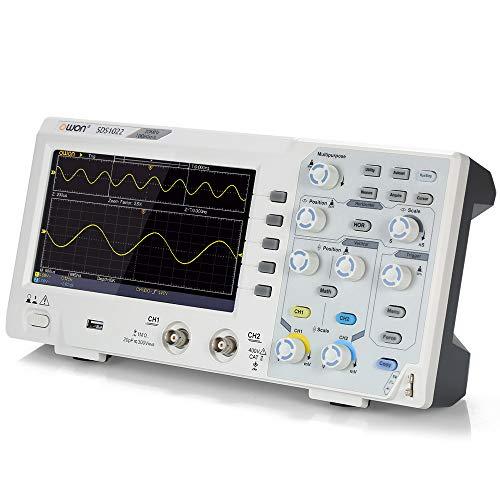 """Owon SDS1022 Digitales Oszilloskop Oszillometer Speicher Oszilloskop 2CH 20MHz 100MS / s 7""""mit LCD-Display"""