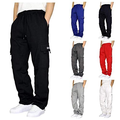 Herren Cargohose mit 4 Taschen | Lange Cargo Hose Freizeithose Wanderhose Trekkinghose Joggers Men Pants Sporthose Outdoorhose für Männer