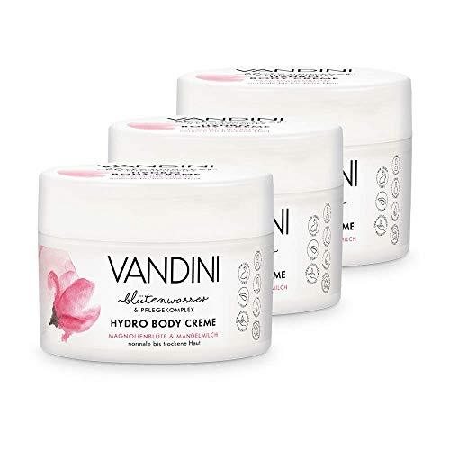 VANDINI HYDRO Body Creme Magnolienblüte & Mandelmilch 3 x 200 ml