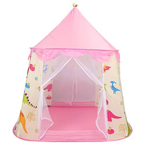 XINL Tienda Castle Play, fácil de Limpiar, Transpirable, Plegable, para niños, Conveniente para Instalar y almacenar, Material de poliéster Premium(Pink)