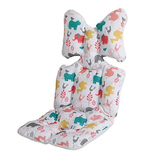 Cojín para cochecito de bebé, asiento de coche de algodón, asiento universal de cochecito de bebé, forro de asiento de cochecito de bebé (Animal World Blanco)