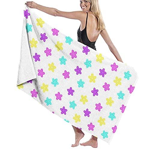 Lsjuee Toallas de Playa Soft Stars Pastel Star F Toallas de Piscina de SPA súper absorbentes de Secado rápido para Nadar y al Aire Libre 80x130cm