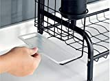EOVL Abtropfgestell 2and 3 Etagen Abtropfgitter Geschirrständer Geschirrabtropfer mit Besteckhalter und Auffangschale/D - 4