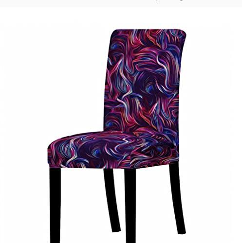 Funda elástica para silla, protector de silla, lavable, extraíble, diseño de flores