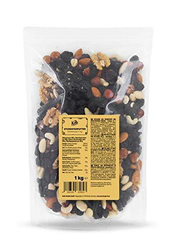 KoRo - Mezcla de frutos secos de clase extra 1 kg - Mezcla de pasas Nueces de Brasil Anacardos Nueces Almendras - Sin aditivos