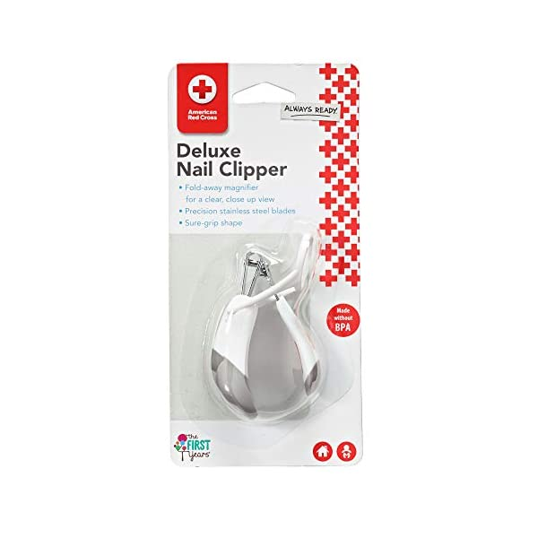 The First Years American Red Cross Deluxe Nail Clipper with Magnifier