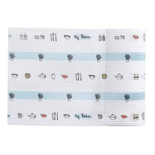 Wegwerp doekjes voor de keuken Nat en Droog Dual-Use Verwijderbare Olie-Absorberend Papier doekjes, Handdoeken, Kachels, doekjes, Tafelkleden, Schone vaatwerk, 2 Rollen