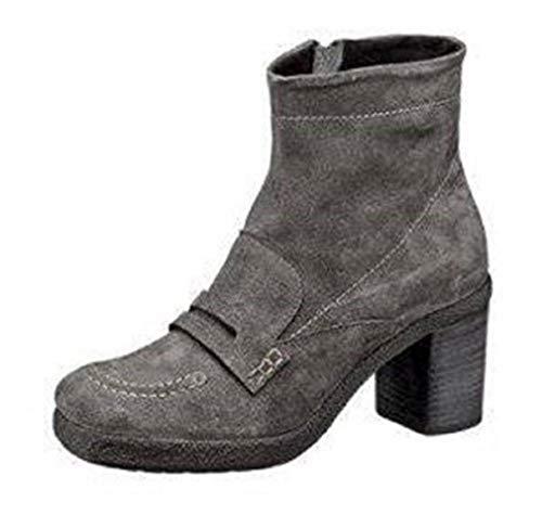 Khrio Stiefelette, Chaussures de ville à lacets pour femme - Gris - Gris, 36 EU