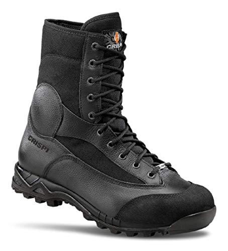 Anfibi Militari Crispi Scarponi Esercito Italiano Softair da Uomo Neri Tattici (45 EU)