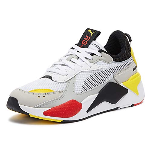 Puma Rs-X Toys Hombres Blanco/Negro/Amarillo Zapatillas-Uk 9 / Eu 43