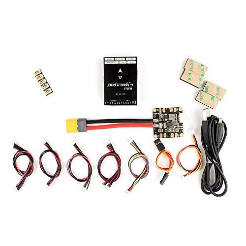 RONSHIN Holybro Pixhawk 4 Mini Controlador de Vuelo del piloto automático W / PM06 Power Management 5V Salida para RC Drone