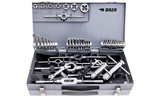 BAER SET HSS Handgewindebohrer | Schneideisen | Werkzeuge : M 3-12 - Gewindeschneider-Set | Gewindeschneid-Satz