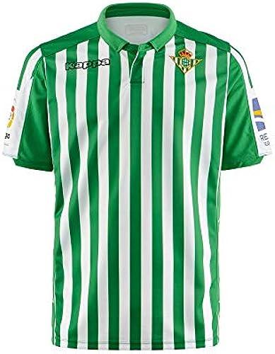 Kappa 2019-2020 Real Betis Home Football Soccer T-Shirt Maillot (Enfants)