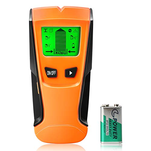 Stud Finder Wall Scanner 5 in 1 Electronic Wall Detector Stud Sensor Wall Wood Beam Finders Center Finding with LCD Display amp Audio Alarm for Wood Metal Studs AC Live Wire Joist Detection