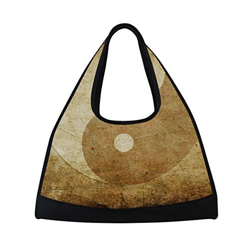 DragonSwordlinsu Coosun Yin-Yang-Symbol, Reisetasche, Schultertasche, praktische Sporttasche, Turnbeutel, Tennis, Badminton, Schlägertasche für Damen und Herren