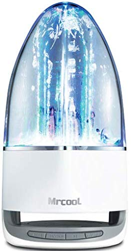 MRCOOL I6 Water Dancing Speaker,Led Colorful Night Lights and Water Fountain Show,TWS Function,Bluetooth 5.0,for All Bluetooth Devices, Dancing or Home Decor (Water Dancing Speaker)