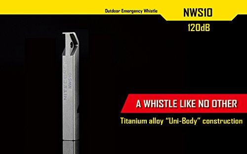Product Image 1: Nitecore NWS10 TC4 Titanium Outdoor Emergency Whistle 120 Decibeles (NWS10 Emergency Whistle)