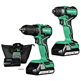 Metabo HPT Cordless 18V Drill and Impact Driver Combo Kit | Sub-Compact | Brushless Motor | Lithium-Ion Batteries | Lifetime Tool Warranty | KC18DDX