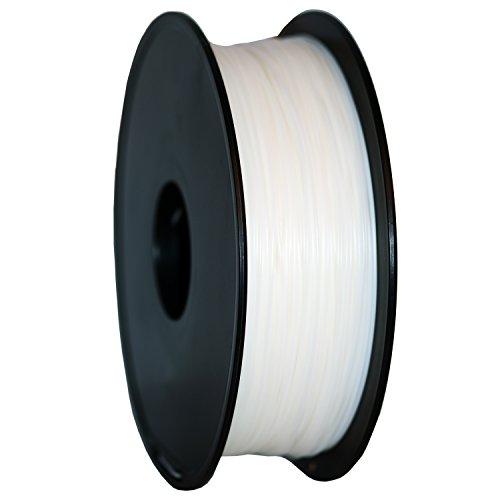 GEEETECH Filamento PLA 1.75mm para impresión 3D, 1kg Spool, Blanco
