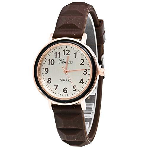 FDIJM Weibliche Uhr Mode Frauen Schlanke Lederband Zeiger Frauenuhr -Armbanduhr Für Frauen Uhr, Bw