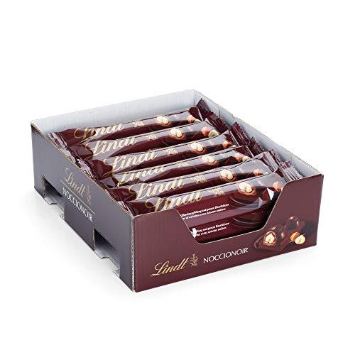 Lindt Noccionoir Chocolate Bar, Schokoladen Riegel aus feinherber Schokolade gefüllt mit Kakao-Haselnuss-Crème und ganzer Haselnuss, Set mit 18 Schokoriegeln im Multi-Pack, (1 x 720 g)
