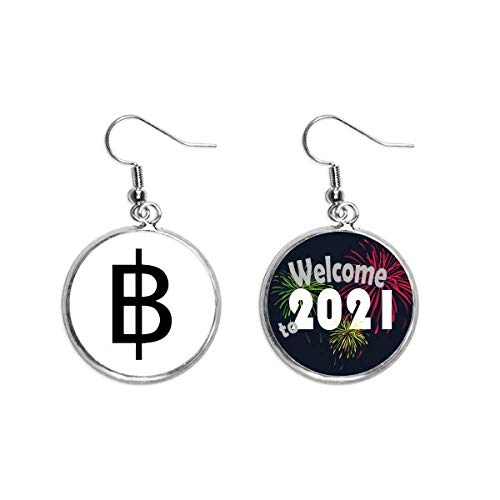 Currency Symbol Thai Baht Ear Pendants Earring Jewelry 2021 Blessing