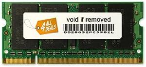 4AllDeals 2GB (2-1GB) DDR2 Ram Memory Upgrade for Dell Latitude Inspiron D620 D520 D531 E1405 E1505 640M 9400 Notebook Laptop