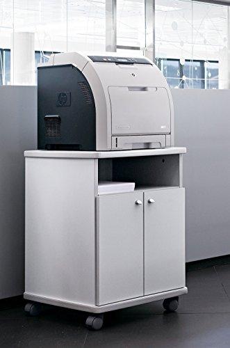 Mesa fotocopiadora e Impresora ber-copian40 Blanco Roto de 70.50h, 53cm Fondo, 50cm Ancho