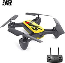 $129 » HR 4k Camera GPS Drone with 5G WiFi Live Video Brushless Quadcopter, 2 Batteries, Auto Return Home, Follow Me, Selfie Drone for Adult Beginner Expert (Yellow)