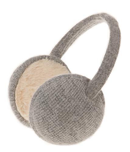 Knolee Unisex Classic Fleece Earmuffs Foldable Ear Muffs Winter Accessory Outdoor EarMuffs (One size, Grey B)