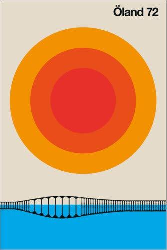 Poster 40 x 60 cm: Öland 72 von BO Lundberg - hochwertiger Kunstdruck, neues Kunstposter