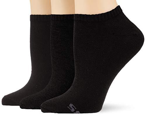 Skechers Socks Damen Sk43007 Füßlinge, Schwarz (Black 9999), (Herstellergröße: 35/38) (3er Pack)