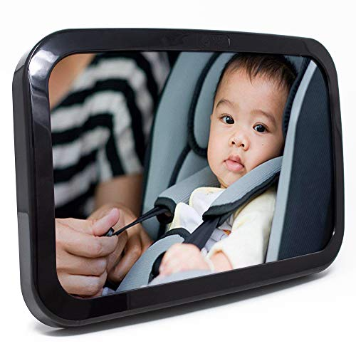 Baby & Mom Back Seat Baby Mirror - Rear View Baby Car Seat Mirror...