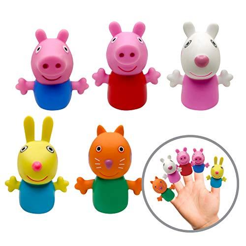 Ginsey Peppa Pig 5 Piece Finger Puppet Set