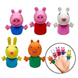 Ginsey Piece Finger Puppet Set, Peppa Pig, (Pack of 5)