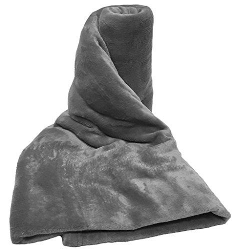 A-Express Grau 200cm x 250cm Warme Nerzdecke Weich groß Fleecedecke Sofadecke Tagesdecke Kuscheldecke Bed Decke