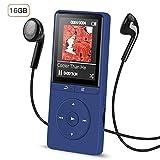 Lettore MP3 16 GB, AGPTEK A20S Lettore Musicale senza perdita di audio 70 ore di autonomia con funzione FM Radio e uno slot per scheda Micro SD, Blu Scuro