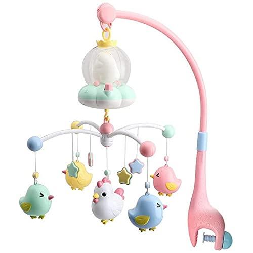 Carrusel Cuna Luz y Musica,Baby Musical Cuna Móvil Con Luces Nocturnas Colgando Rotating Rattles Caja De Música Multifuncional Juguete Para El Recién Nacido 0-24 Meses