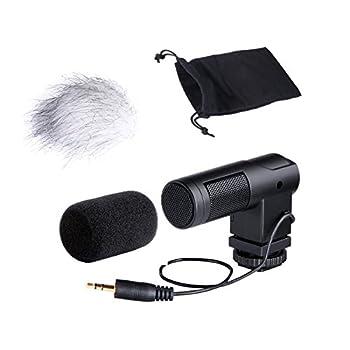 Movo Photo VXR260 Mini XY Stereo Condenser Video Microphone for DSLR Video Cameras