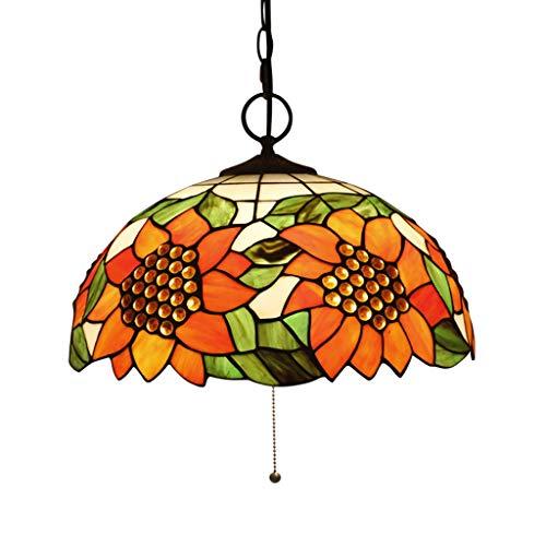 Iluminación Tiffany European Retro lámpara de jardín para restaurante Cafe Bar Sugar Shop Music Bar 16 pulgadas