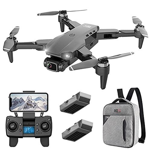 DCLINA Drone GPS scientifico con Doppia Fotocamera 4K UHD per Adulti, Zoom 50x, Distanza RC 1200M, quadricottero RC FPV Pieghevole con 2 batterie, Ritorno Automatico a casa, seguimi