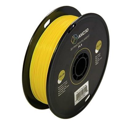 1.75mm Yellow PLA 3D Printer Filament - 1kg Spool (2.2 lbs) - Dimensional Accuracy +/- 0.03mm