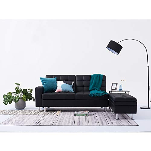 Panana 3 Seater Sofa Bed Faux Leather Modern Recliner Corner Couch Sleeper...