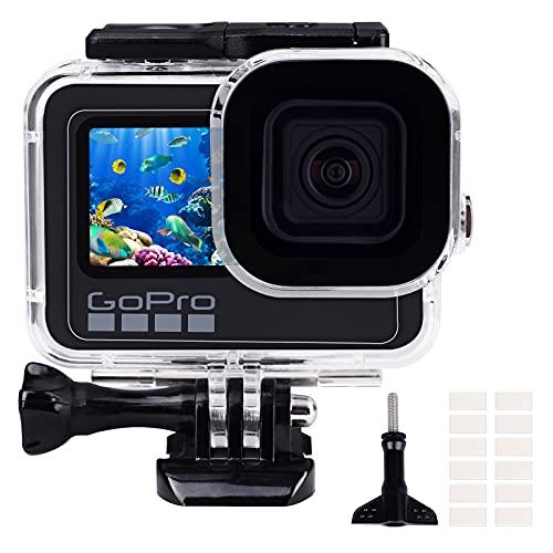 REDTRON Funda Impermeable para GoPro Hero 9 Black, Carcasa Protectora de Buceo de 196FT/60M con diseño de Doble Cierre, Marco de Carcasa Protectora para la cámara de acción GoPro Hero 9