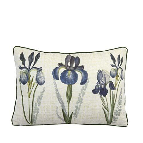 Bella Maison Virginia - Cojín decorativo para sofá, con relleno de cojín, tamaño: 35 x 50 cm, en beige, certificado Öko-Tex