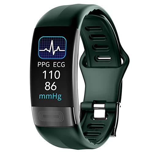 QAK P11 Plus ECG Bluetooth Pulsera Hombres Y Mujeres Inteligentes Inteligentes Deportes Smart Heart Rate Monitor Watch Smartwatch Smartband,C