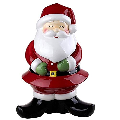 Comfy Hour Winter Holiday Home Collection Christmas Santa Cookie Jar, Ceramic