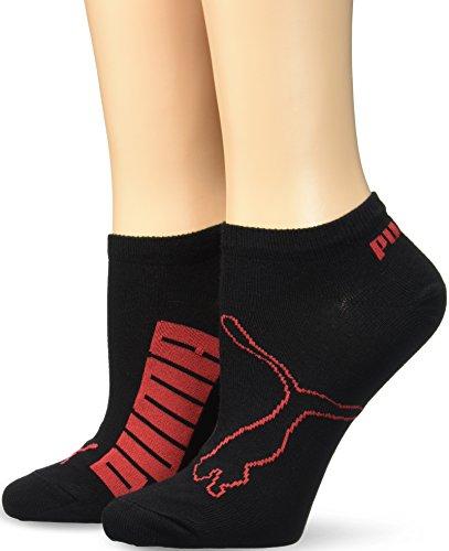 Puma Damen Sportsocken Lifestyle keine Angabe,2er Pack, Gr. 35/38 (Herstellergröße: 35/38 ), Schwarz (Schwarz/Rot)