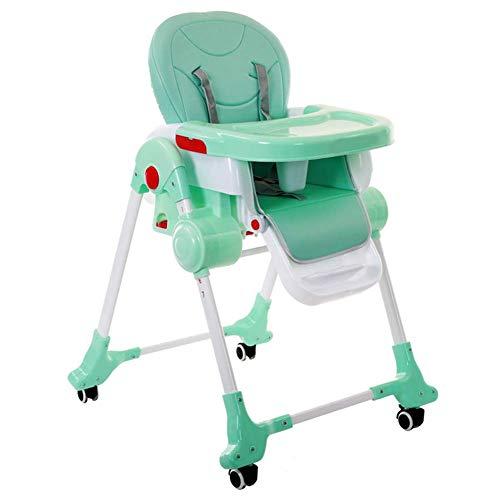 YLCJ baby eetkamerstoel baby eettafel stoelen huishouden draagbare instelbare kinderstoel (kleur: ROSA, grootte: groot) Large groen