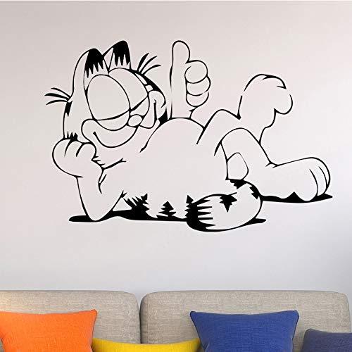 Tianpengyuanshuai Cartoon Katze wandaufkleber kinderzimmer zubehör abnehmbare Vinyl wanddekoration Dekoration Selbstklebende kleber 45 cm X 67.5 cm